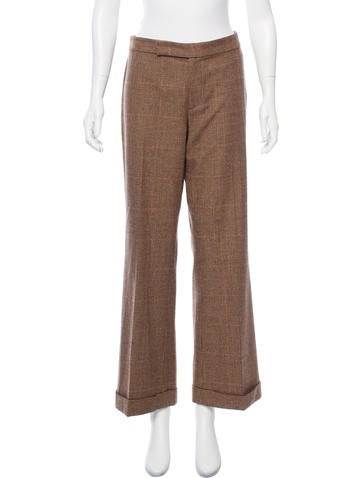 Ralph Lauren Black Label Mid-Rise Wool Pants None
