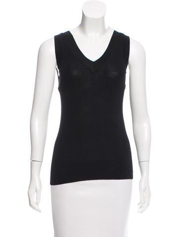 Ralph Lauren Black Label Sleeveless Wool Top None