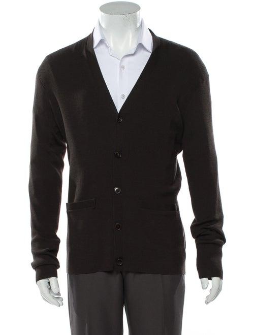 Ralph Lauren Black Label Wool V-Neck Cardigan Blac