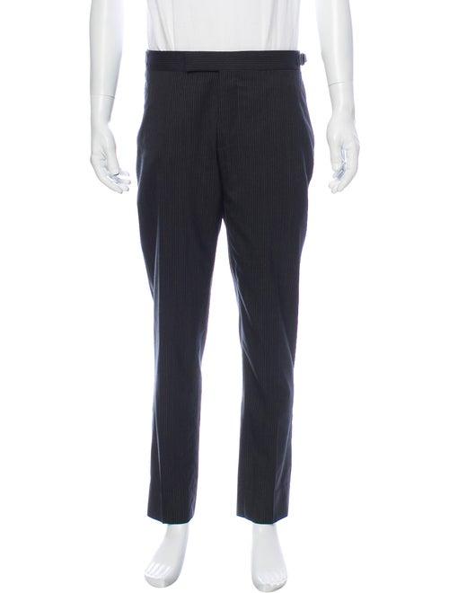 Ralph Lauren Black Label Striped Dress Pants Black