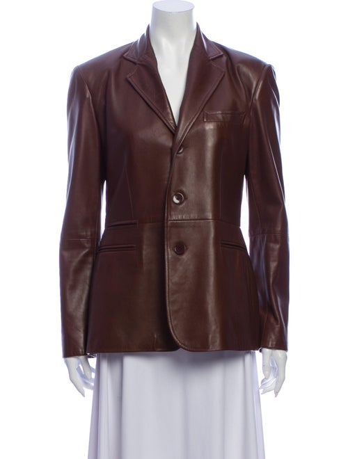 Ralph Lauren Black Label Vintage Leather Blazer B… - image 1