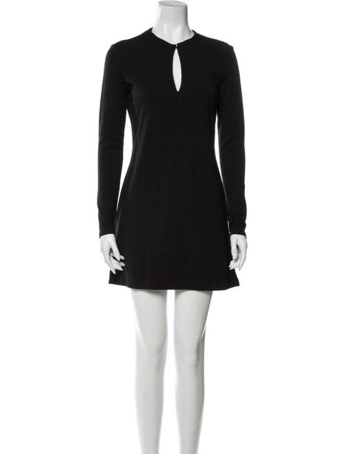 Ralph Lauren Black Label Wool Mini Dress Black