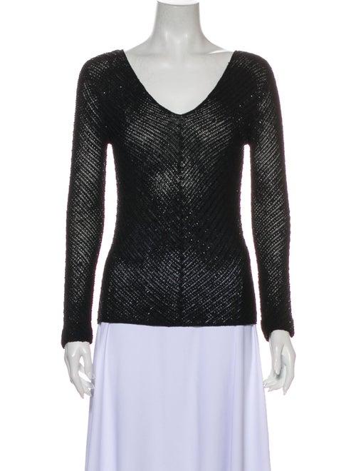 Ralph Lauren Black Label V-Neck Sweater Black