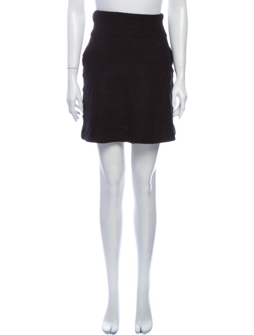 Ralph Lauren Black Label Cashmere Mini Skirt Black