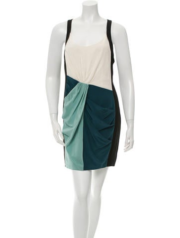 Rebecca Minkoff Silk Colorblock Dress None