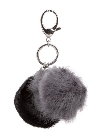 Double Fur Pom Pom Keychain w/ Tags
