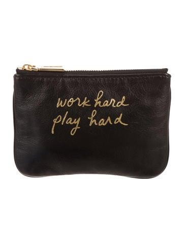 Work Hard Play Hard Coin Pouch