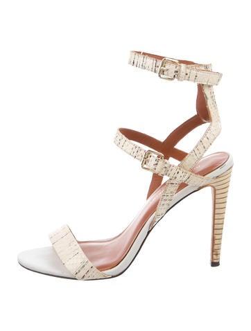 Embossed Multistrap Sandals