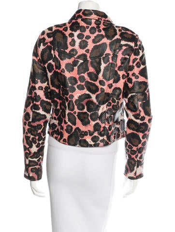Printed Leather Jacket w/ Tags
