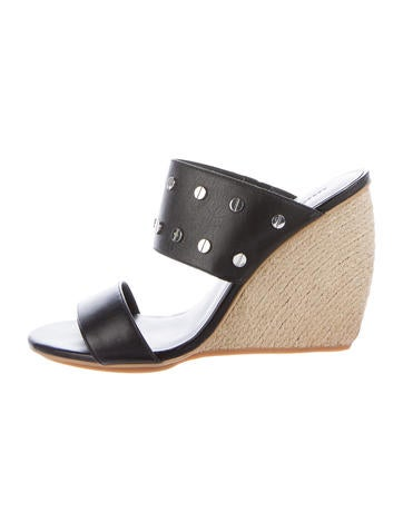 Rebecca Minkoff Studded Espadrille Wedges None