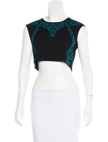 Rebecca Minkoff Cropped Intarsia Top None