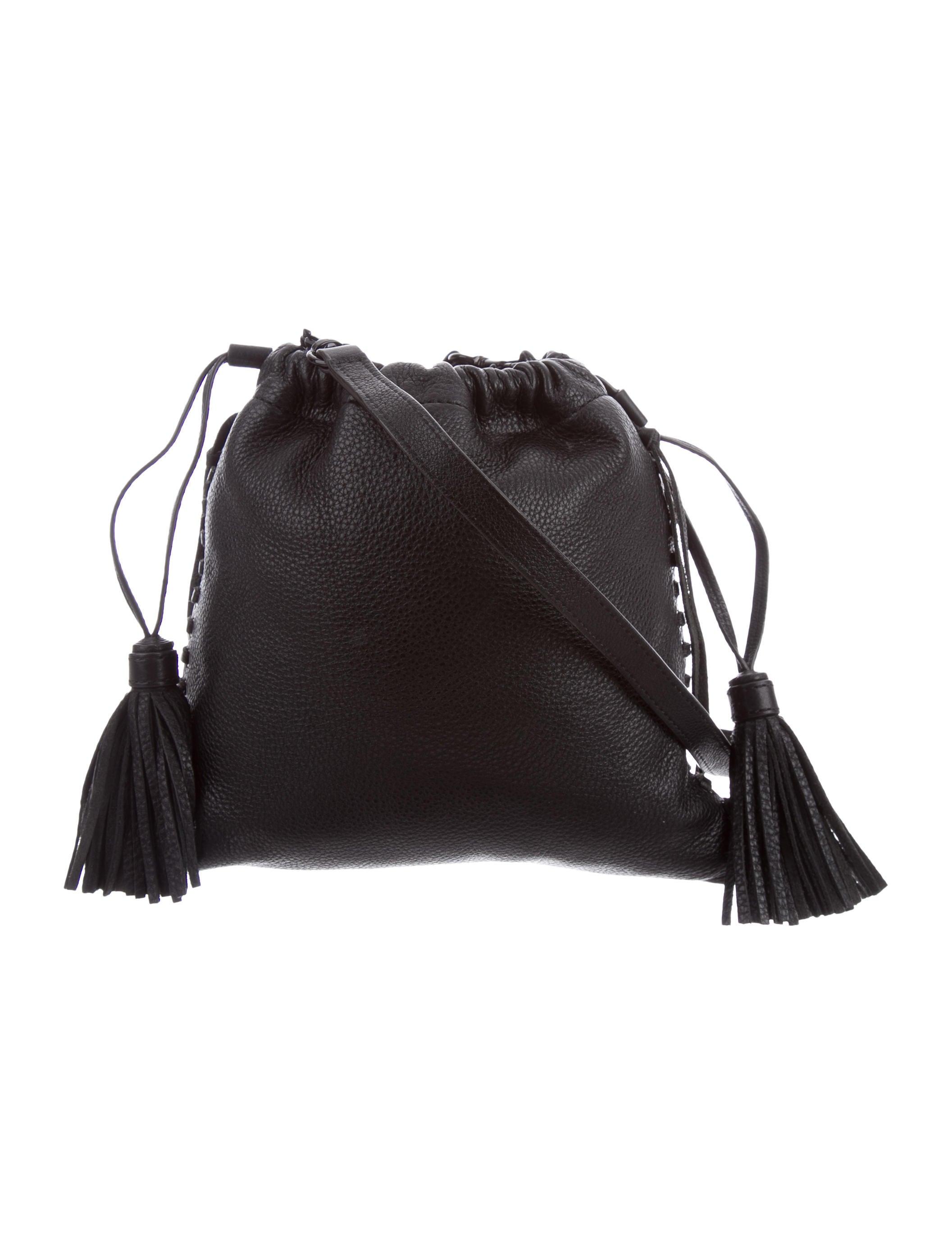 Black Pebbled Leather Crossbody Bag 114