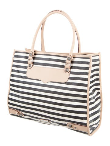Striped Diamond Canvas Tote