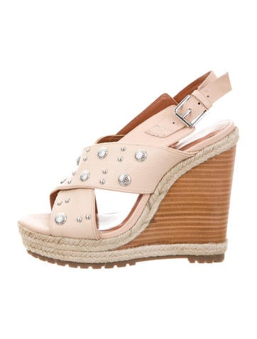 Rebecca Minkoff Studded Crossover Wedges None