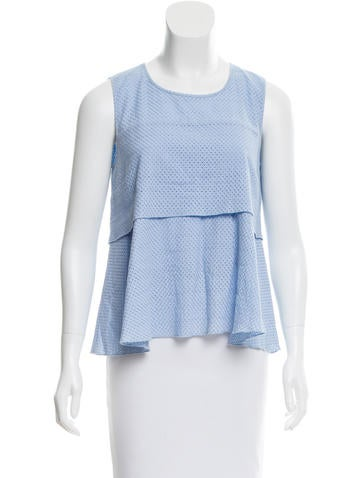 Rebecca Minkoff Patterned Sleeveless Top None