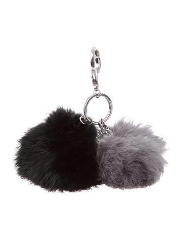 Rebecca Minkoff Double Fur Pom-Pom Keychain None