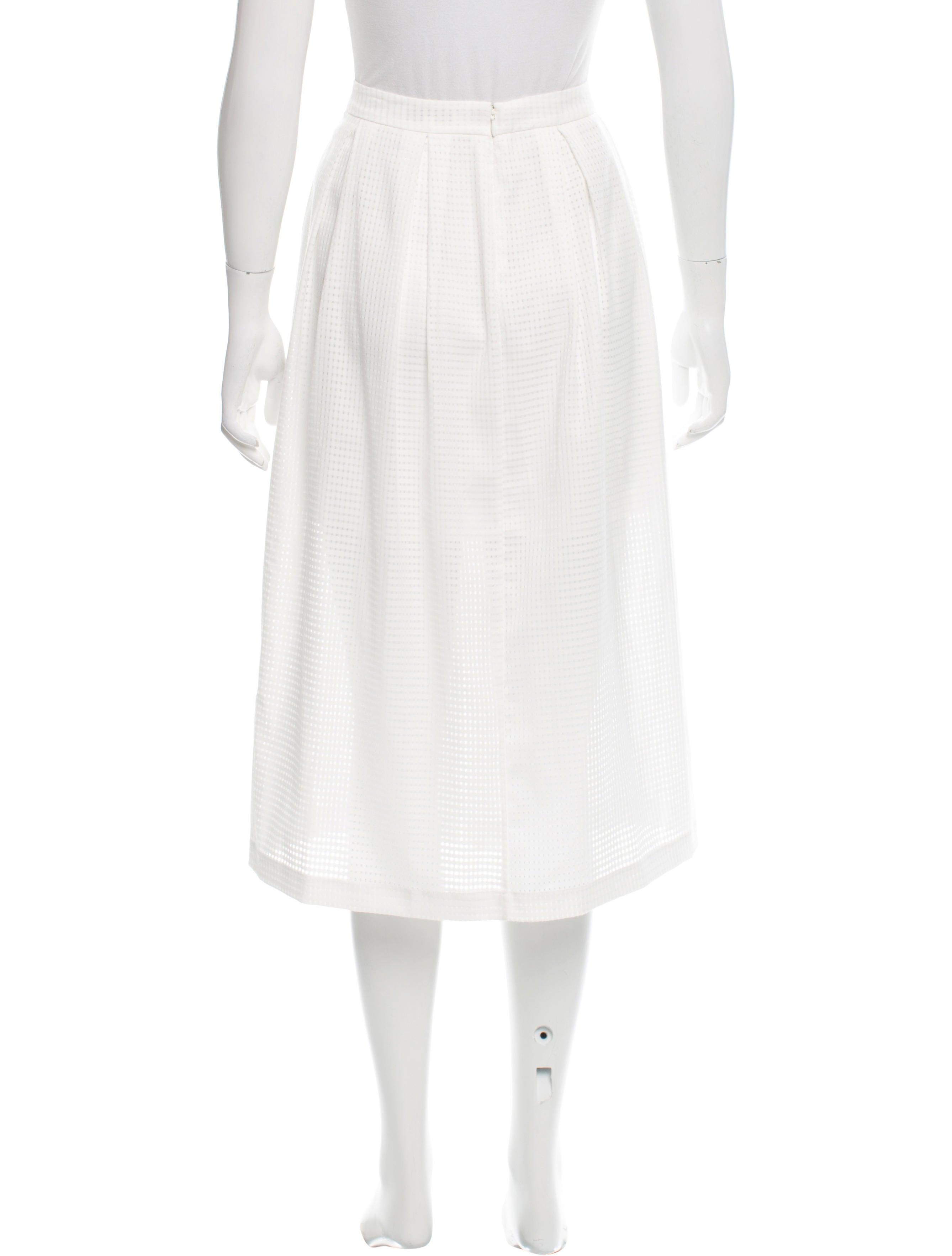 minkoff knee length pleated skirt clothing