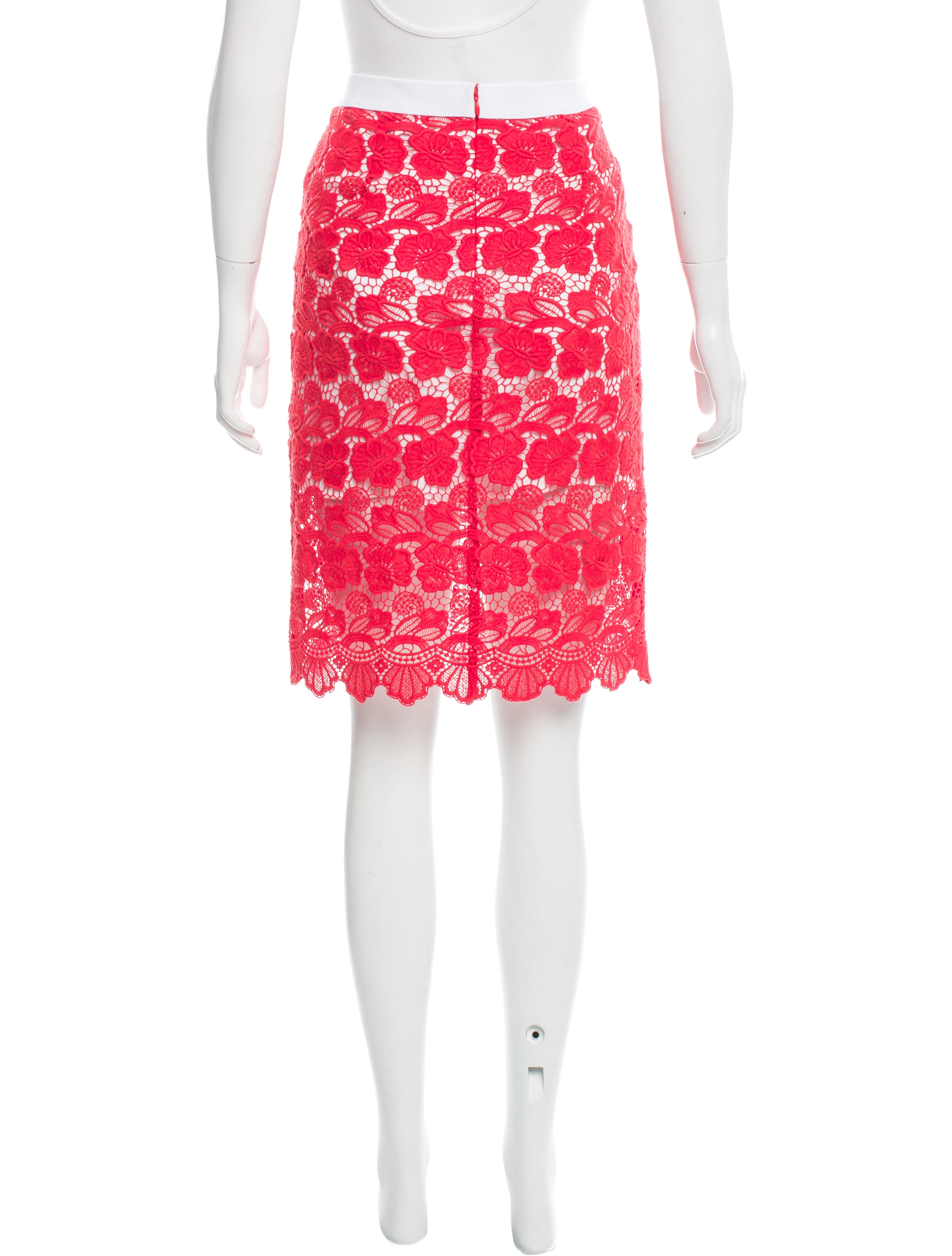 minkoff knee length lace skirt clothing
