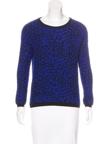 Rebecca Minkoff Merino Wool-Blend Patterned Sweater None