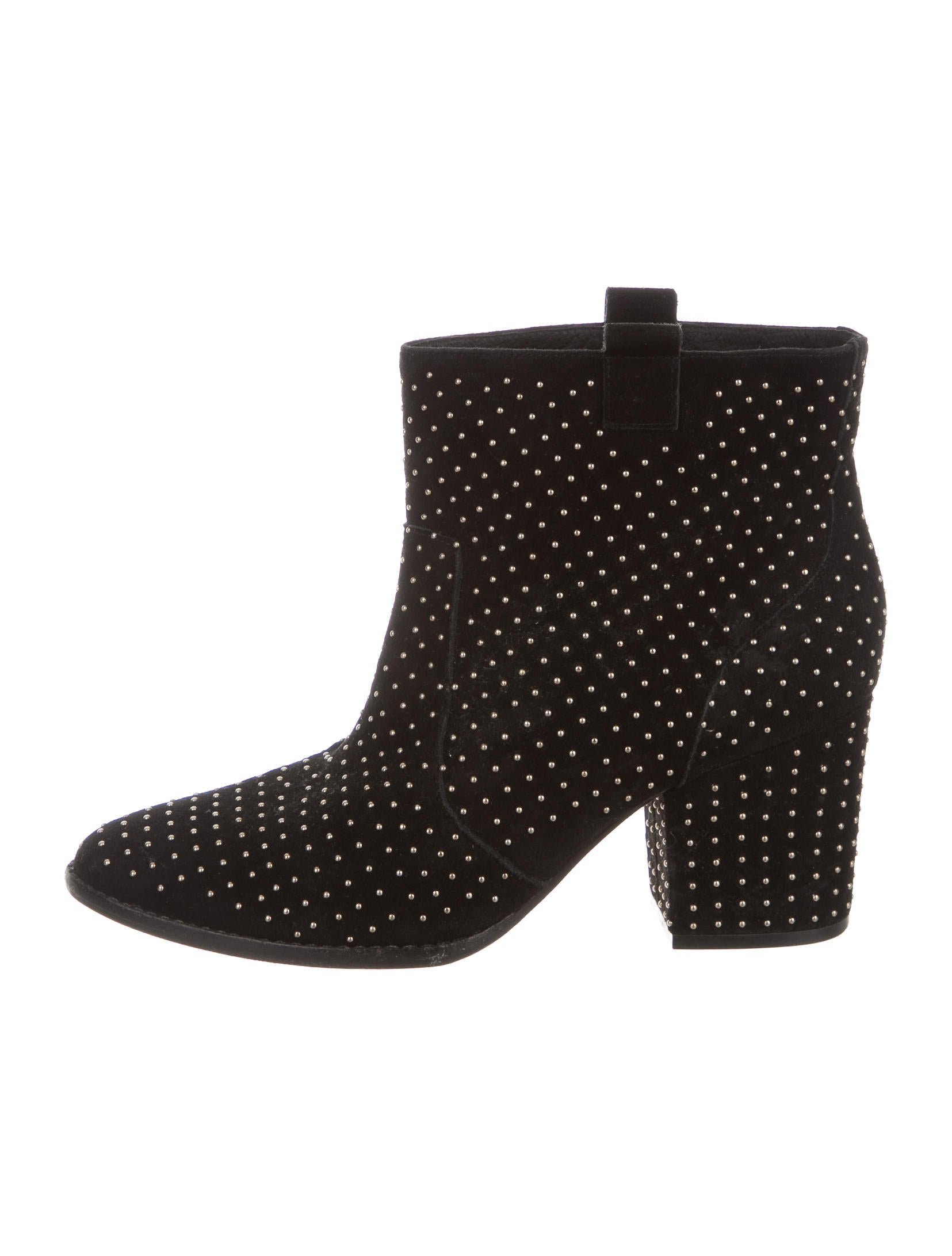 minkoff suede studded ankle boots shoes