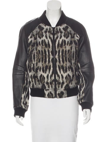 Rebecca Minkoff Leather-Paneled Concord Jacket w/ Tags None