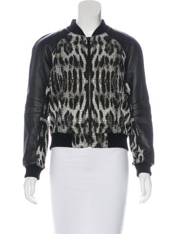 Rebecca Minkoff Brocade Bomber Jacket None