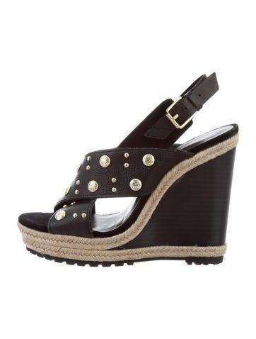 Rebecca Minkoff Embellished Wedge Sandals None