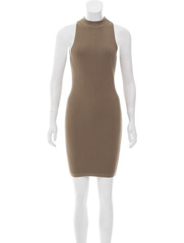 Rebecca Minkoff Ribbed Mini Dress None
