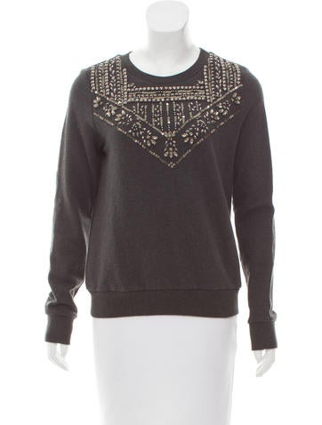 Rebecca Minkoff Embellished Crew Neck Sweatshirt None