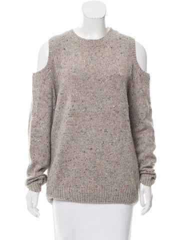 Rebecca Minkoff Cold-Shoulder Wool Sweater None