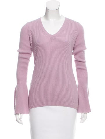 Rebecca Minkoff Long Sleeve V-Neck Sweater None
