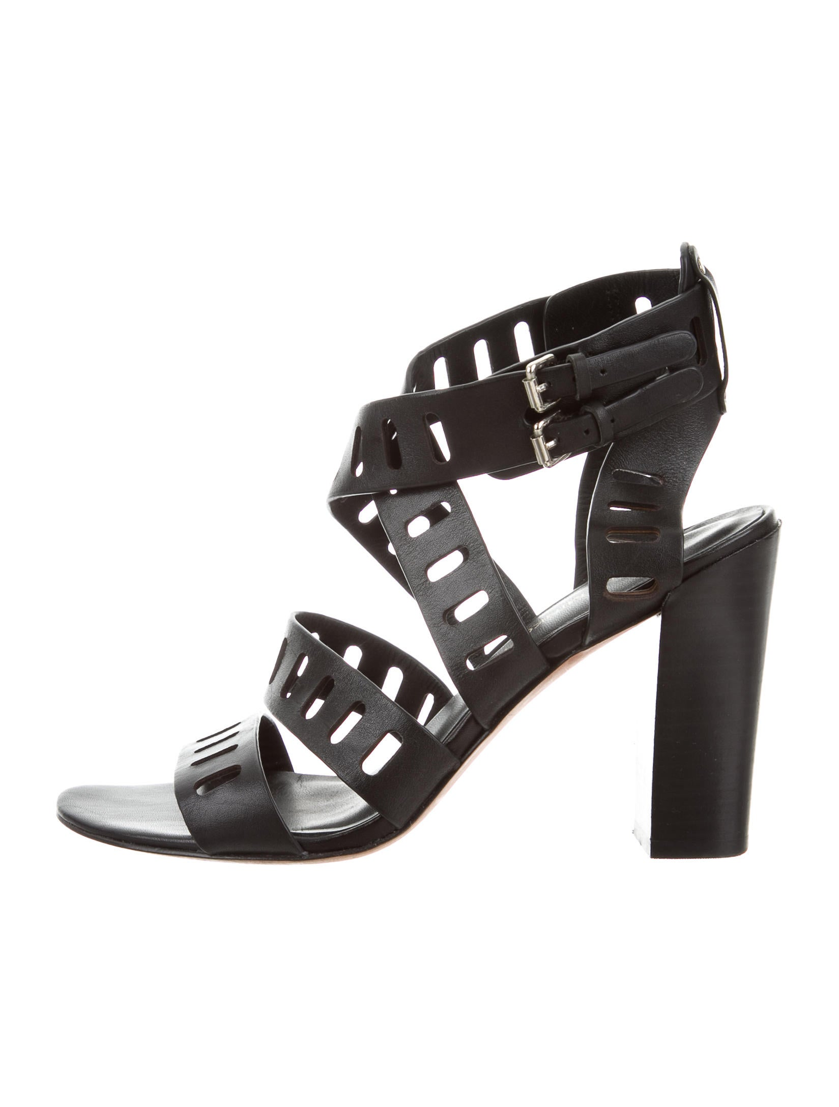 buy cheap fashion Style shop offer cheap price Rebecca Minkoff Multistrap Laser Cut Sandals classic sale online low cost sale online EOTamX