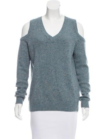 Rebecca Minkoff Wool-Blend Cold-Shoulder Sweater None