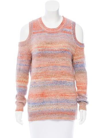 Rebecca Minkoff Cold-Shoulder Mélange Sweater None
