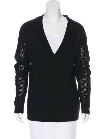 Rebecca Minkoff Knit V-Neck Sweater None