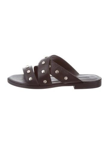 Rebecca Minkoff Leather Slide Sandals None