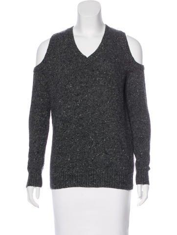 Rebecca Minkoff Wool Cold-Shoulder Sweater None