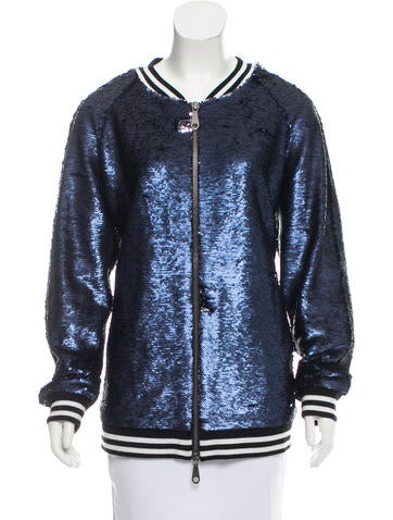 Rebecca Minkoff Sequined Bomber Jacket None