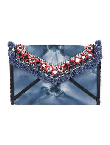 Rebecca Minkoff Dreamy Pom Leo Clutch None