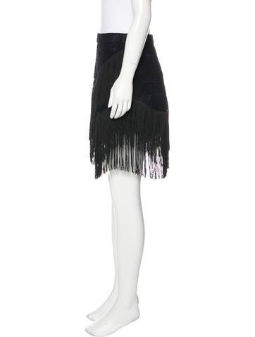 Wool Fringe Skirt