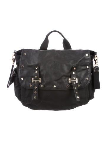 Rebecca Minkoff Leather-Trimmed Diaper Bag None