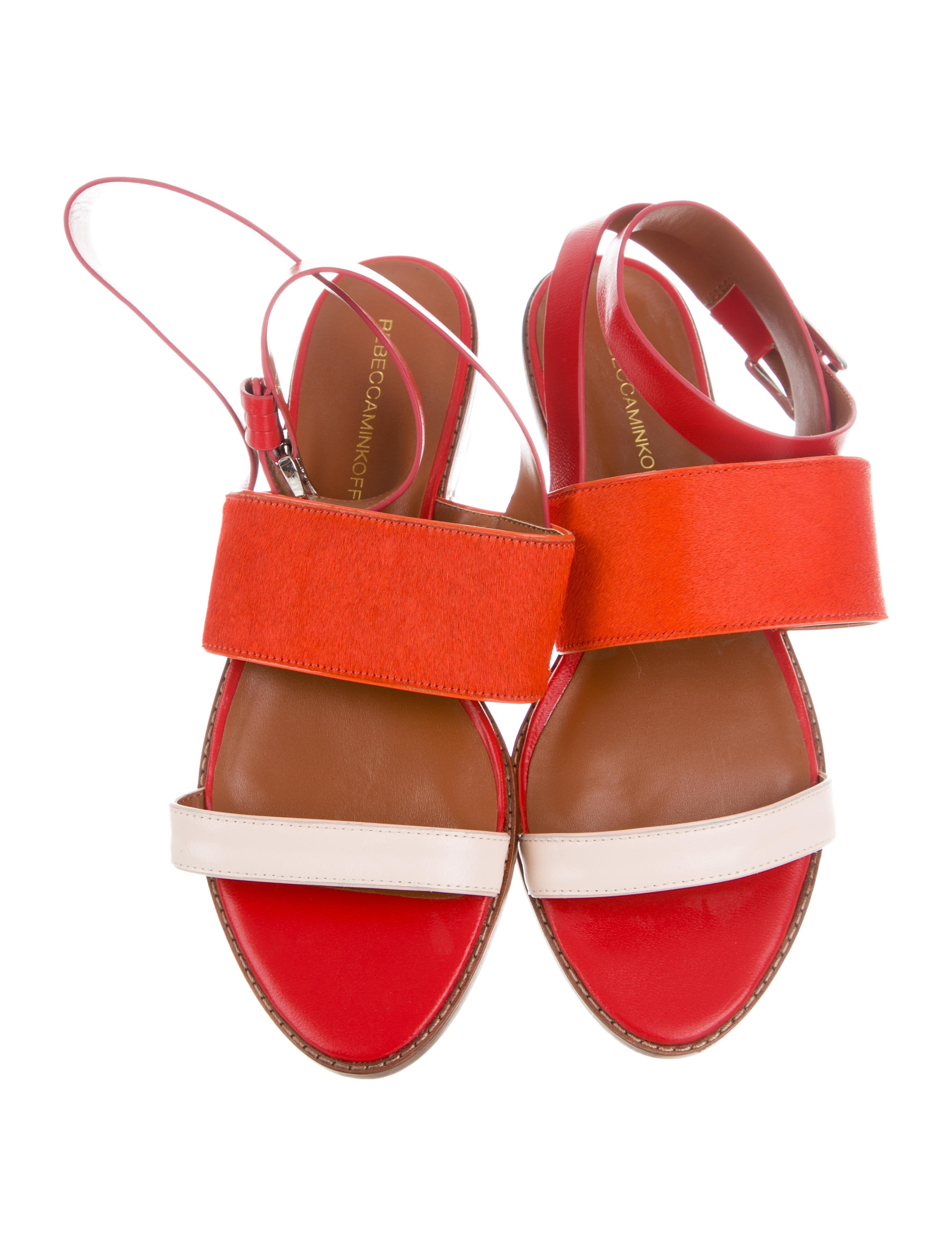 clearance many kinds of Rebecca Minkoff Ponyhair-Trimmed Leather Sandals sale best seller cheap Inexpensive clearance authentic latest online ImUXdNuOSG