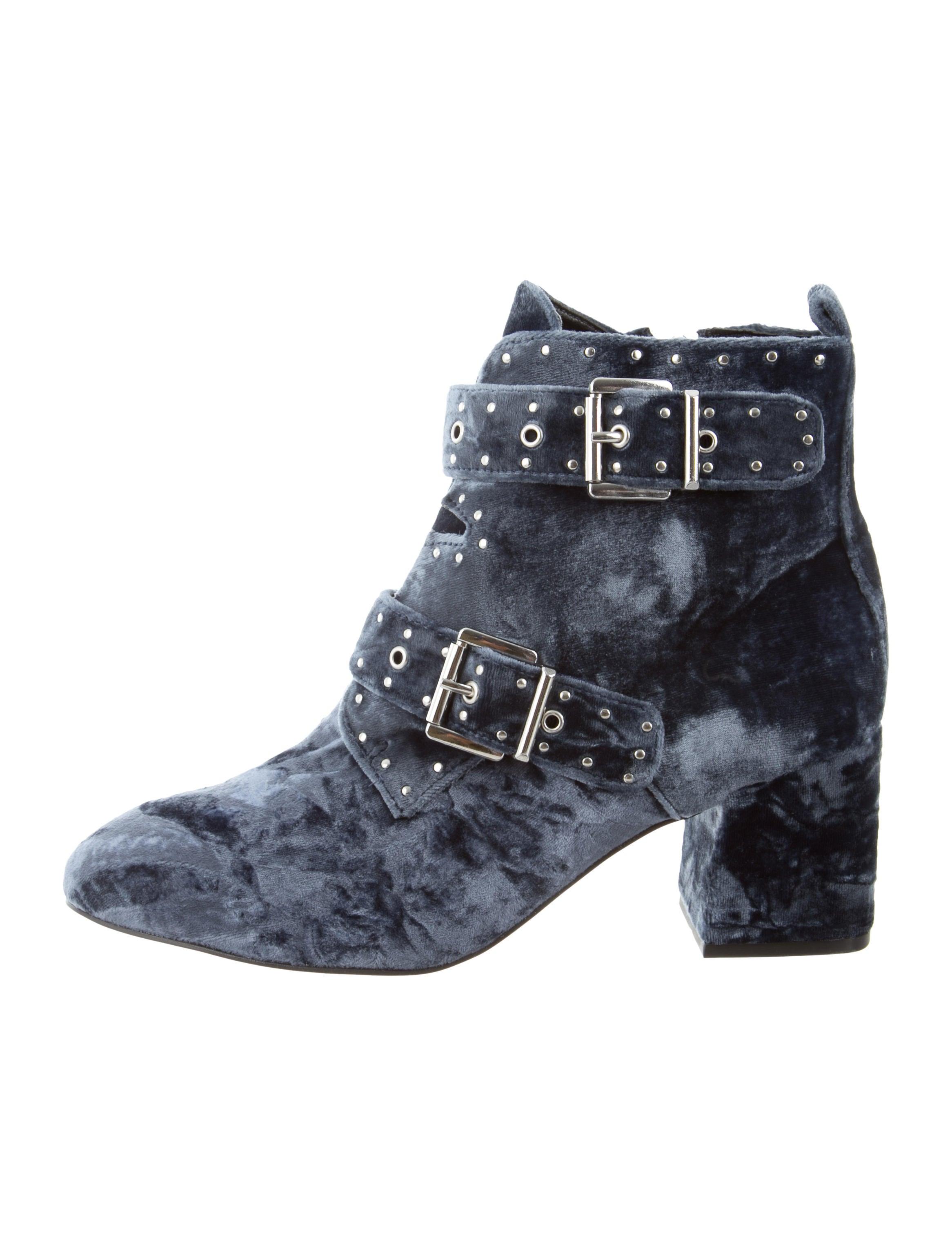 great deals sale online best store to get online Rebecca Minkoff Velvet Round-Toe Ankle Boots buy cheap best seller cheap best store to get xcUq944