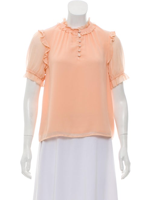 Rebecca Minkoff Ruffle-Trimmed Short Sleeve Blouse
