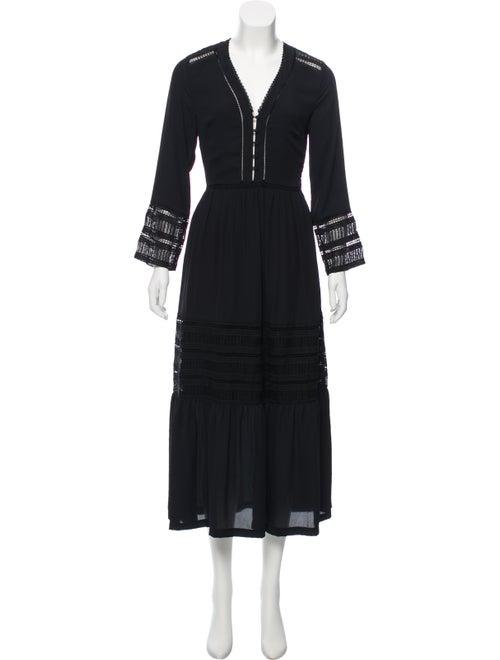 Rebecca Minkoff Long Sleeve Maxi Dress Black