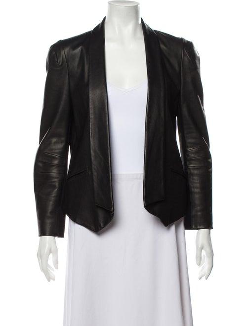 Rebecca Minkoff Lamb Leather Blazer Black
