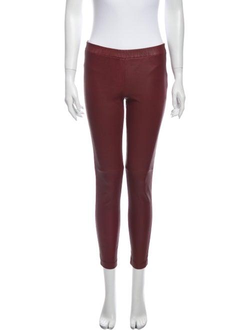 Rebecca Minkoff Leather Skinny Leg Pants Red
