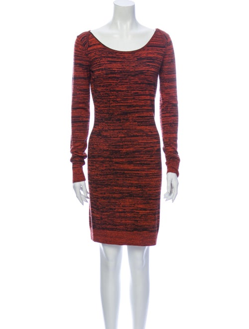 Rebecca Minkoff Silk Knee-Length Dress Orange