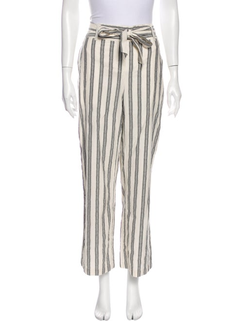 Rebecca Minkoff Striped Wide Leg Pants White