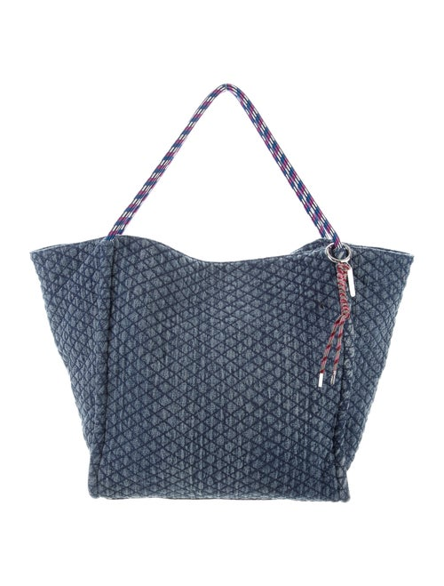 Rebecca Minkoff Quilted Chambray Tote Blue